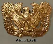 VINTAGE WWII US ARMY WARRANT OFFICER EAGLE HAT PIN ( STANDING ON TWO ARROWS )