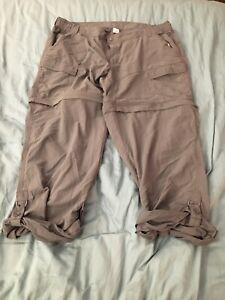 World Wide Sportsman Womens XL Zip Off Roll Up Hiking Pants