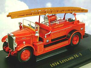 1/43 DIECAST ROAD SIGNATURE 1934 LEYLAND FK1 FK-1 FIRE ENGINE LADY SADLEP 43009