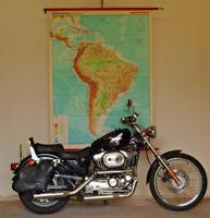 Wandkarte Südamerika Karibik 1977 132x177 vintage south america brasil wall map