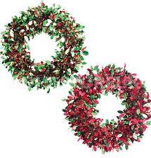 30cm Fronzoli Ghirlanda artificiale a muro da appendere decorazione Natale Xmas 8707