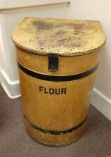 More details for antique 19thc toleware tin large bakers shop flour bin scumble paint