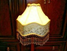 Custom Handmade BEADED GOLD COLOR Lampshade for Victorian style lamps, NEW