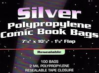 200 Silver Comic Resealable Bags and Boards BCW Quality Archival Book Storage