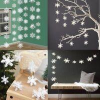 12Pcs/String 3D White Snowflake Christmas Ornaments Xmas Tree Hanging Decoration