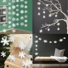 12pcs 3D White Snowflake Christmas Ornaments Xmas Tree Hanging Decoration