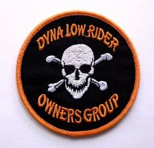 "Dyna Low Rider Owners Group Harley Embroidered Davidson 3.5""x3.5"" Sew-On Patch"