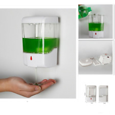 Automatic Sensor Hands Free Soap Dispenser Sanitizer Bathroom Wall Mounted 600mL