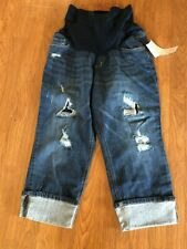 Motherhood Distressed Denim Capris Size 1X