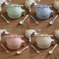 1 Pc Eco-Friendly Wheat Straw Instant Noodles Soup Salad Rice Bowl Microwav #mi