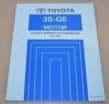 Toyota Celica MR2 Motor 3S-GE 1996 ST202 Zusatz Motor Werkstatthandbuch