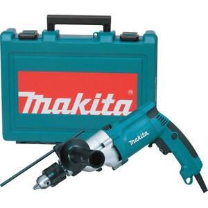 Makita Hammer Drill Torque 3/4 in. Corded Limiter Side Handle Depth Gauge Case