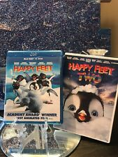 Happy Feet (Blu-ray Disc, 2007) And Happy Feet Two DVD. Great Condition.
