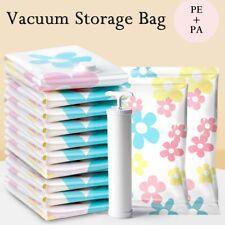 Vacuum Storage Bag Vacuum Compressed Bag with HandPump Reusable Blanket Clothes*