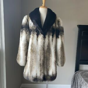 Vintage Olympia Faux Fur Coat Oversized Carrie Bradshaw Style Jacket S M