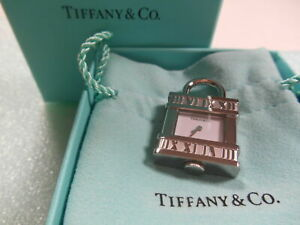 NEW! Tiffany & Co Atlas Lock Watch Pendant Charm Swiss SS 4 Necklace Bracelet