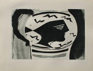Georges BRAQUE : Le vase grec - GRAVURE, 1950