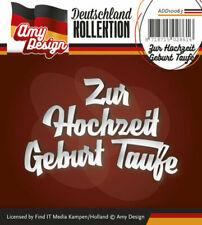 Amy Design Schablone Zur Hochzeit Geburt taufe Add10063