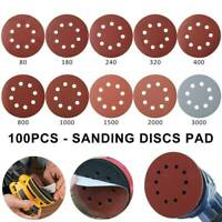 100pcs Sanding Discs 125mm 80-3000 Mixed Grits Self Adhesive Orbital Sander Pads