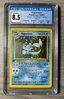 1999 Pokemon Jungle 1st Edition Vaporeon Holo 12/64 CGC 8.5 Near Mint/Mint+