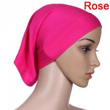 Islamic Muslim Women Head Scarf Cotton Soft Underscarf Hijab Cover Headwrap 3c Red