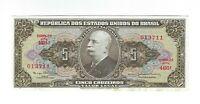 5 Cruzeiros Brasilien 1964 UNC C074b / P.176d -  Brazil Banknote