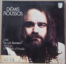 "DEMIS ROUSSOS 1974 Smile/Shadows UNIQUE EDITION!Ex  P/S 7"" 45 EP BRAZIL"