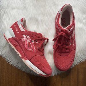Asics Gel Lyte III 3 Strawberry Berry Cream Size 7.5 Lace Up Sneaker Shoe H64BK