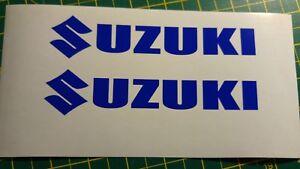 ***SUZUKI TANK BIKE DECAL STICKERS COLOURS***
