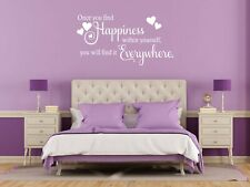 """""""Find Happiness within yourself'' Self Love Inspiration Wall Art Sticker, Decal"""