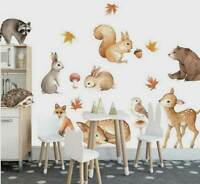 Woodland Animals Wall Sticker Kids Nursery Decal Home Decor Baby Room Art DIY