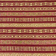African Print Fabric 100% Cotton 44'' wide sold by the yard (90212-2)