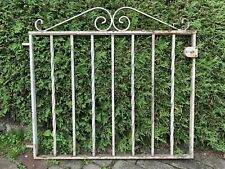 Large Victorian Super Heavy Antique Iron Steel Garden Fence Gate Architecture