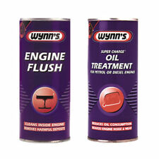 Wynns Engine Flush Cleaner + Super Charge Oil Treatment Additive Petrol & Diesel