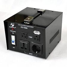 1000Watt Step Up Down 110V 220V Voltage Transformer with 4 AC outlets STU1000N