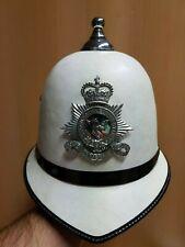 BRITISH ISLE OF MAN POLICE WHITE BALL TOP BOBBIE HAT HELMIT UK ENGLAND - SIZE 59