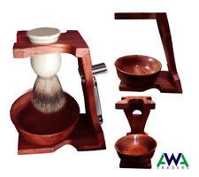 Shaving Brush and Razor stand Classic Handmade Sissoo Wood Finished