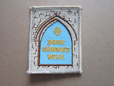 York Tourist Walk Walking Hiking Cloth Patch Badge (L3K)