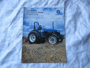 New Holland lawn garden tractor brochure TN TND TNS TN55 TN75 TN70 TN5 tractors