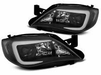 Projector Headlights for Subaru Impreza 3 III GH 2007-2012 Tube Black FreeShip L