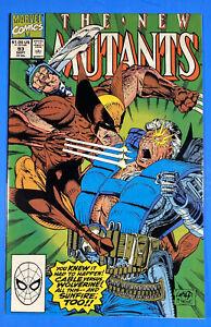 NEW MUTANTS #93 NM (Marvel, 1990) CABLE vs WOLVERINE Liefeld McFarlane NM+ (9.6)
