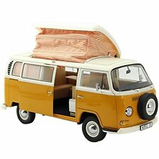 VOLKSWAGEN T2A CAMPING BUS WHITE/ORANGE 1/18 DIECAST MODEL BY SCHUCO 450018700