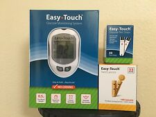 Easy Touch Test Strips Box of 50CT, 100 Lancets 33G And Easy Touch Meter KIT