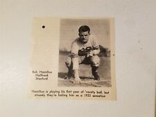 Bob Hamilton Stanford University 1933 Football Pictorial Roto-Panel