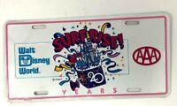 Walt Disney World License Plate AAA 20 years  1991 - New Sealed WDW