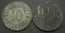 GERMANY 10 Pfennig 1918 - Notgeld - 2 Coins. - 1329