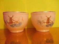 Universal Cambridge Pottery Windmill Custard Cups