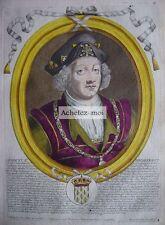 Gravure de DAGOBERT II  Roi de France   Nicolas de LARMESSIN