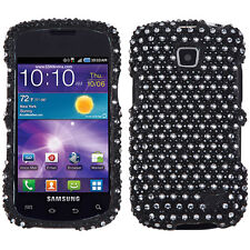 Samsung Galaxy Proclaim Crystal Diamond BLING Hard Case Phone Cover Black Dots