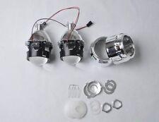 "Xenon 2.5"" Mini HID Bixenon Projector Lens & Chrome Shroud H1/H4/H7 (2 units)"